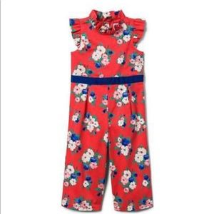 Baby Girls Janie and Jack Floral Jumpsuit